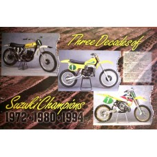 EVOLUTION OF THE SUZUKI MXers COLOR POSTER