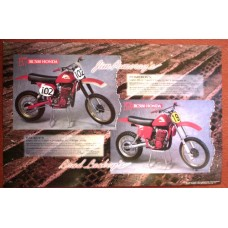 LACKEY & POMEROY HONDA RACER COLOR POSTER